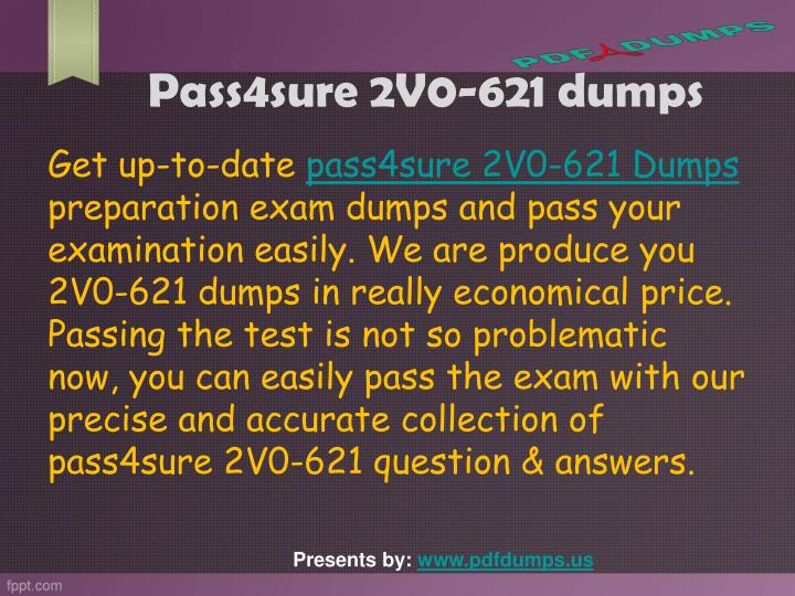 Pass4sure 2v0 621 dumps2