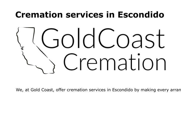 Cremation services in Escondido