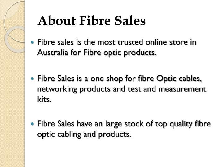 About Fibre Sales