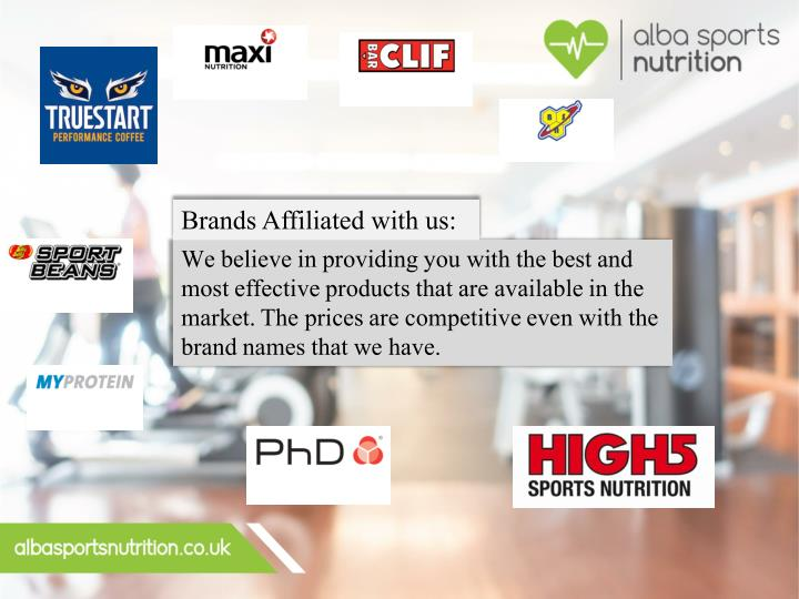 Brands Affiliated with us: