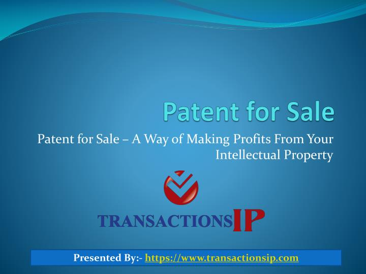 Patent for sale