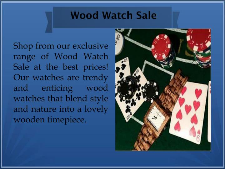Wood Watch Sale
