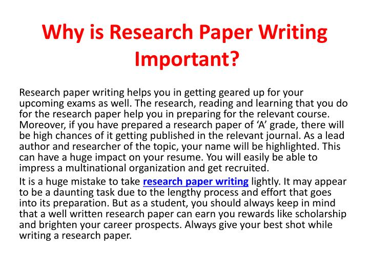 Why is research paper writing important