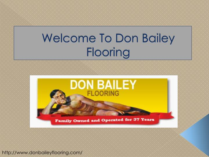 Welcome to don bailey flooring