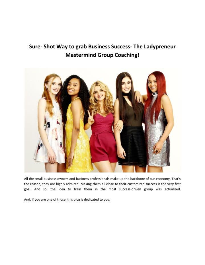 Sure- Shot Way to grab Business Success- The Ladypreneur