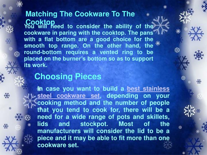 Matching The Cookware To The Cooktop