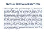 editing making corrections