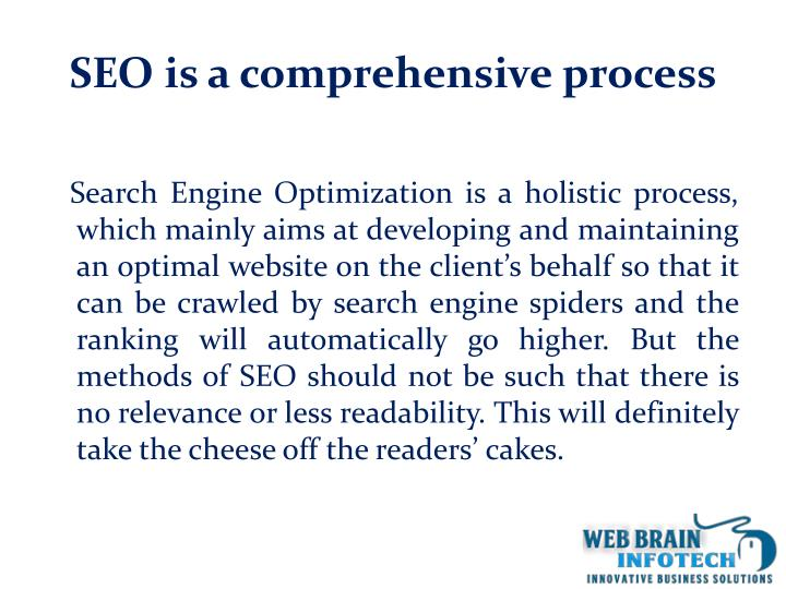 Seo is a comprehensive process