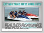 jet ski tour new york city