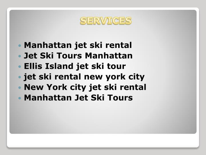 Manhattan jet ski