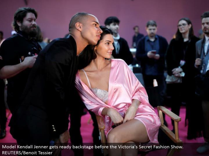 Model Kendall Jenner prepares backstage before the Victoria's Secret Fashion Show. REUTERS/Benoit Tessier