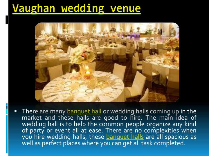 Vaughan wedding venue