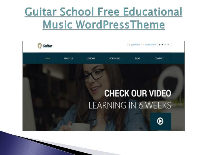 Guitar school free educational music wordpresstheme