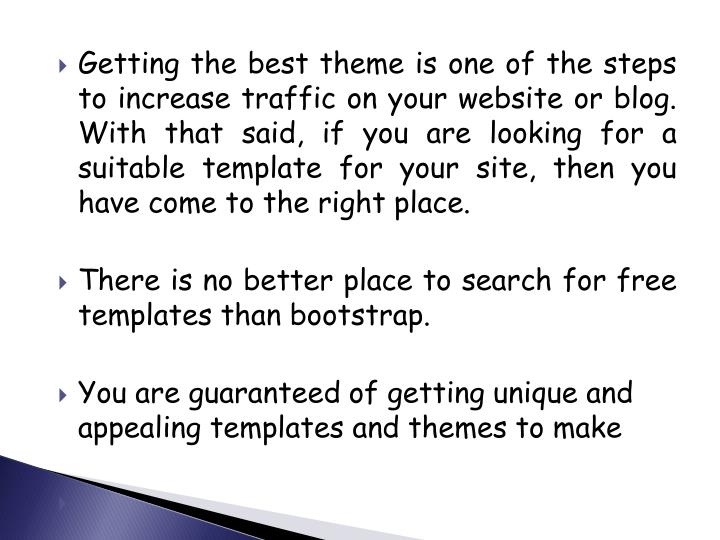 Getting the best theme is one of the steps to increase traffic on your website or blog. With that said, if you are looking for a suitable template for your site, then you have come to the right place.