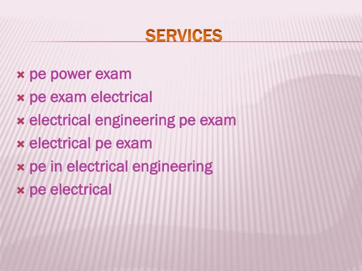 pe power exam