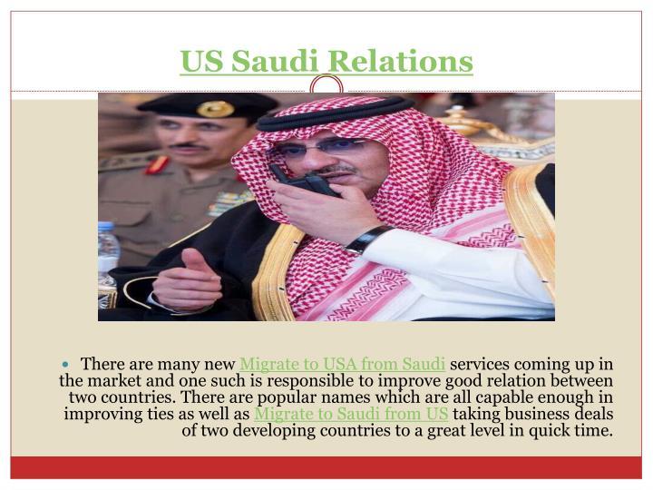 US Saudi Relations