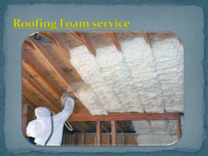 Roofing Foam service
