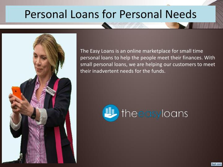Personal Loans for Personal Needs
