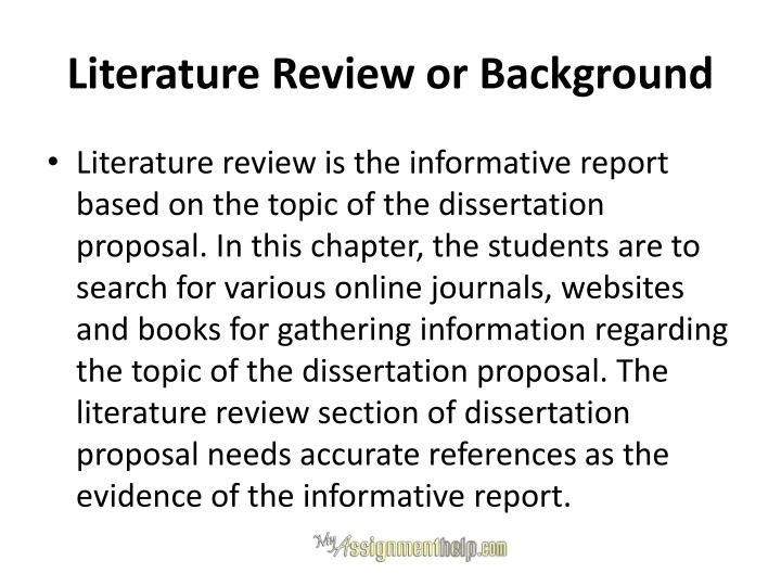 Literature Review or Background