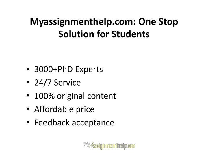 Myassignmenthelp.com: One Stop Solution for Students