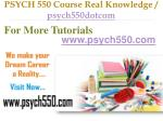 psych 550 course real knowledge psych550dotcom