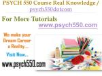 psych 550 course real knowledge psych550dotcom10