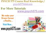psych 575 course real knowledge psych575dotcom12