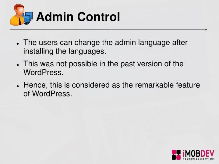 Admin Control