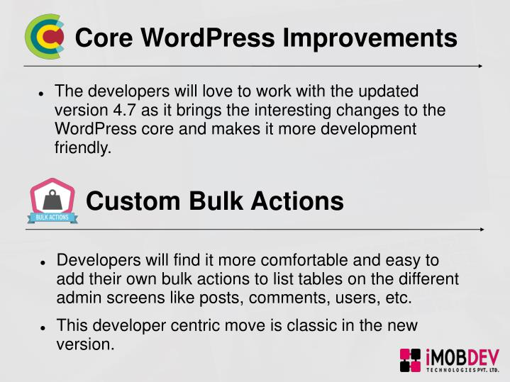 Core WordPress Improvements