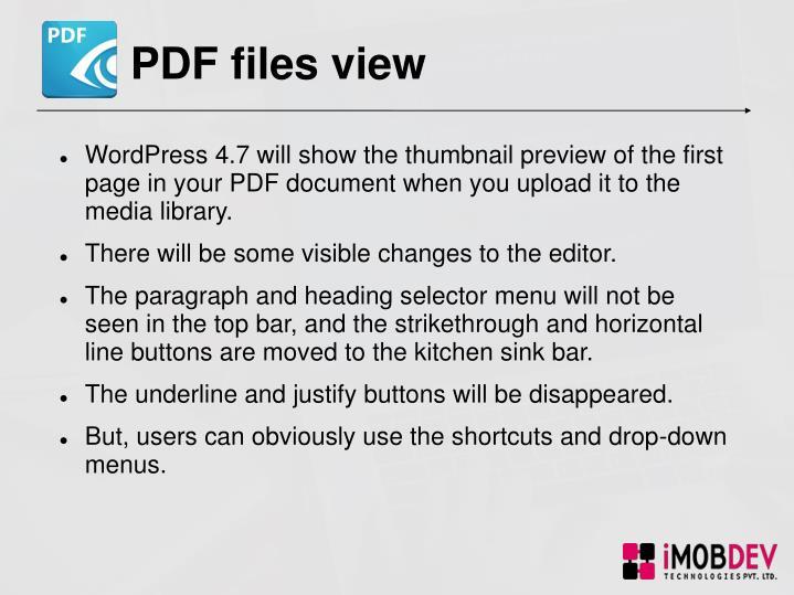 PDF files view