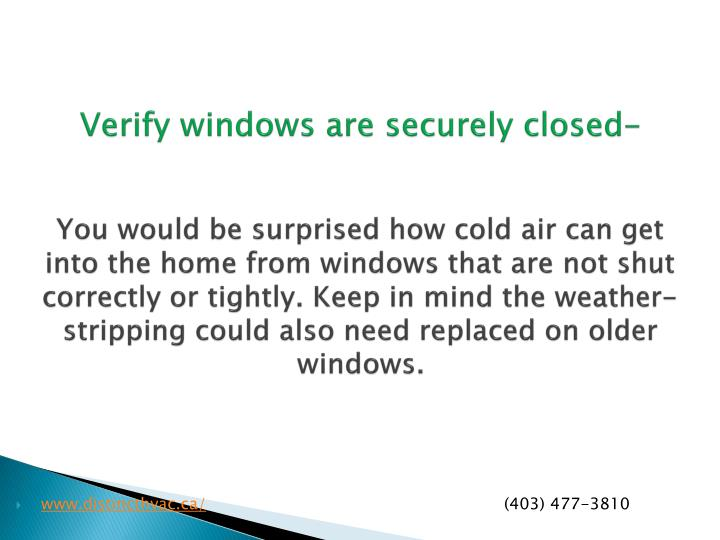 Verify windows are securely