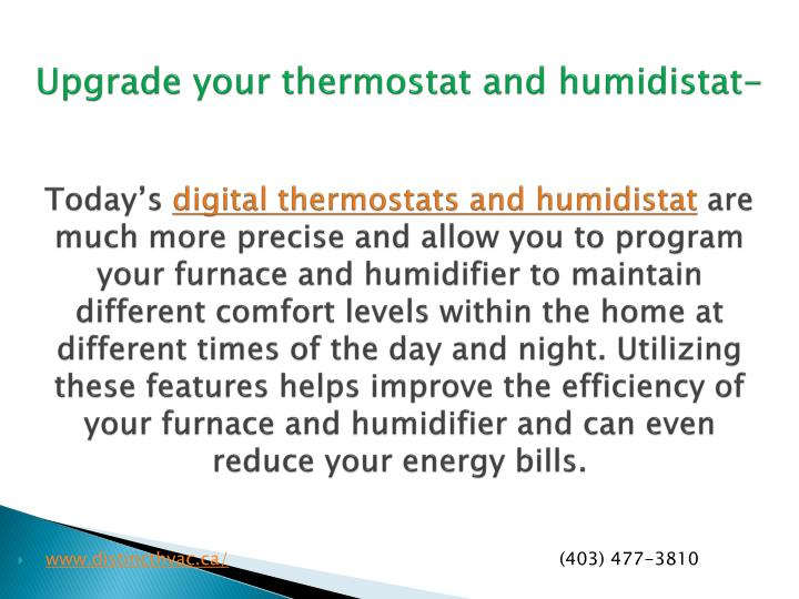 Upgrade your thermostat and