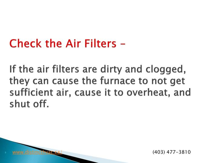 Check the Air Filters