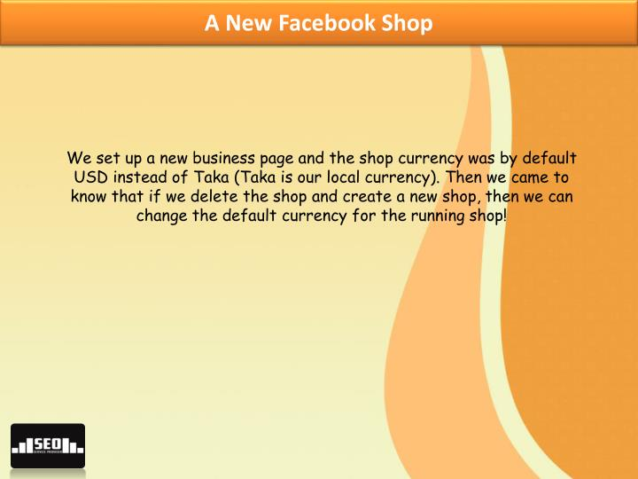 A New Facebook Shop