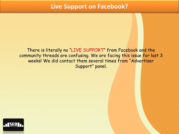 Live Support on Facebook?