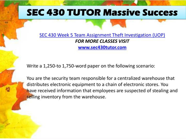 SEC 430 TUTOR Massive Success