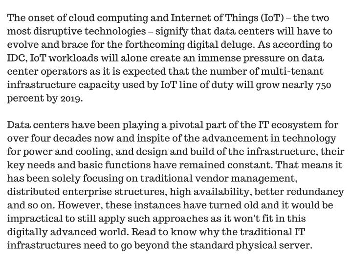 The onset of cloud computing and Internet of Things (IoT)