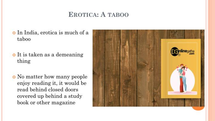 Erotica: A taboo