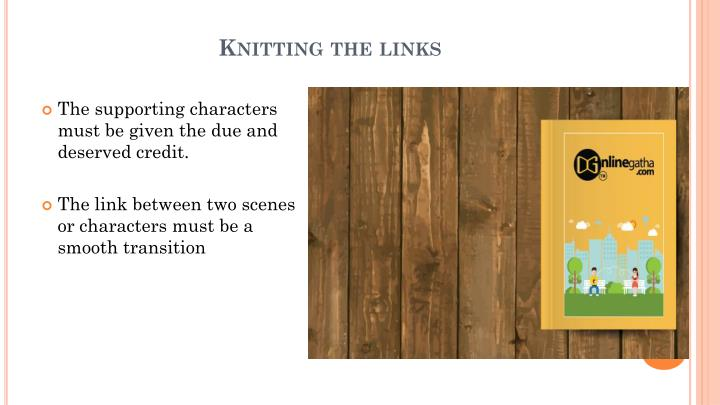 Knitting the links