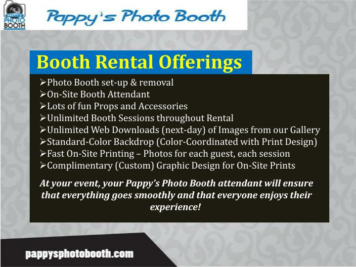 Booth Rental Offerings