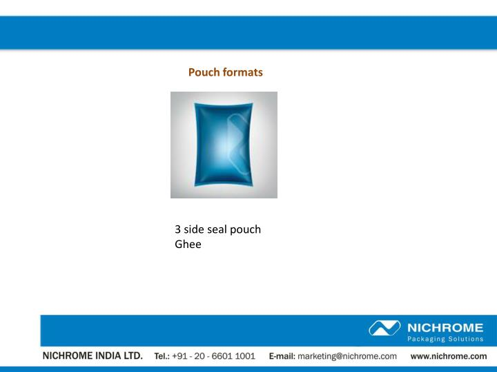 Pouch formats