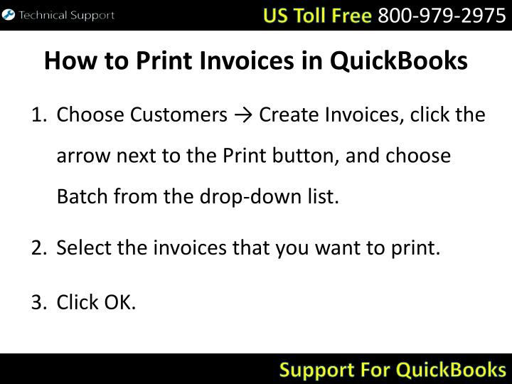 How to print invoices in quickbooks