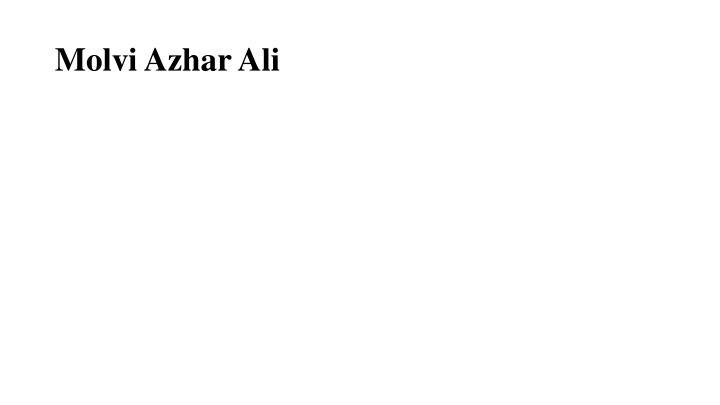 Molvi Azhar Ali