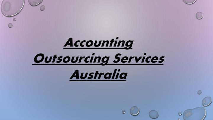 Accounting Outsourcing Services Australia