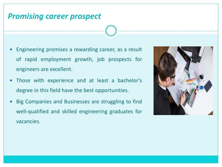 Promising career prospect
