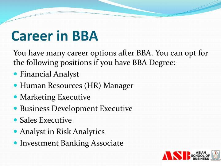 Career in BBA