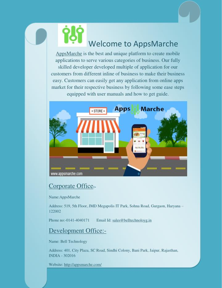 Welcome to AppsMarche