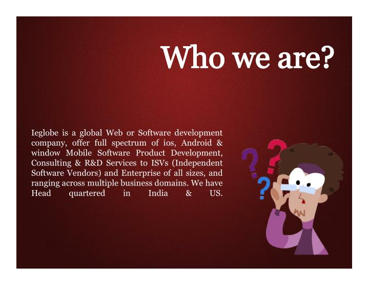 Ieglobe is a global Web or Software development