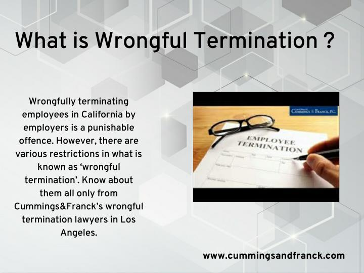 What is Wrongful Termination ?