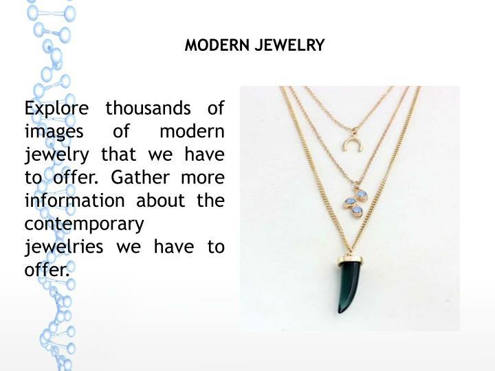 Modern Jewelry